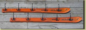 Vintage Ski Rack http://www.recycledskis.com/racks